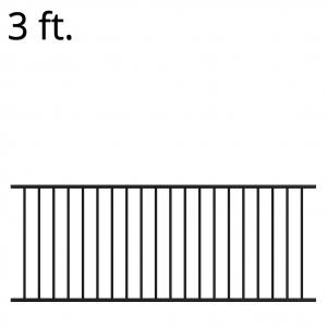 Iron Fence Panel - 36-inchx94-inch - Yukon