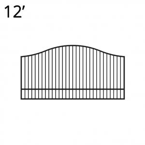 Iron Estate Gate - 60-inchx12-foot Single - Yukon