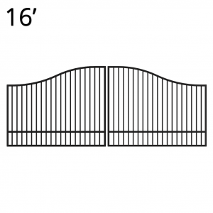 Iron Estate Gate - 60-inchx16-foot Double - Yukon
