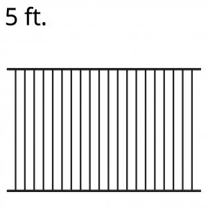 Iron Fence Panel - 60-inchx94-inch - Yukon