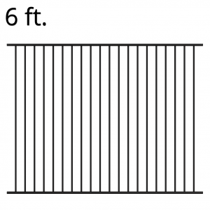 Iron Fence Panel - 72-inchx94-inch - Yukon