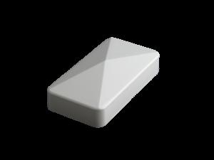2-inch x 3-1/2-inch Vinyl Rail Cap - External - White