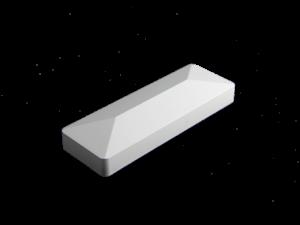 2-inch x 6-inch Vinyl Rail Cap - External - White