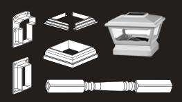 Vinyl Handrail Parts