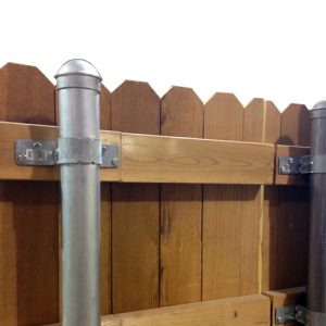 Metal Posts for Wood Fence