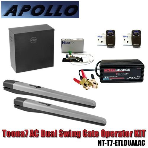 Apollo toona ac dual swing gate opener kit