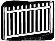 6-foot x 8-foot Vinyl Fence Panel - Ashton - Wide Picket Spacing - White