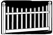 4-foot x 8-foot Vinyl Fence Panel - Ashton - Scalloped - Narrow Picket Spacing - White