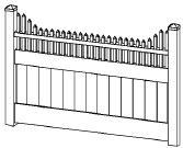 8-foot x 8-foot Vinyl Fence Panel - Privacy - Cambridge - Step - White