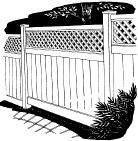 6-foot x 60-inch Vinyl Fence Gate - Privacy - Capital - Lattice - White