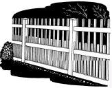 6-foot x 8-foot Vinyl Fence Panel - Kingston - Wide Picket Spacing - White