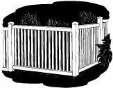 3-foot x 8-foot Vinyl Fence Panel - Poolview - Wide Picket Spacing - White