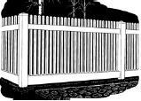 6-foot x 8-foot Vinyl Fence Panel - Stratford - Narrow Picket Spacing - White