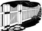 5-foot x 8-foot Vinyl Fence Panel - Stratford - Scalloped - Narrow Picket Spacing - White