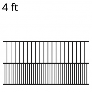 Iron Fence Panel - 48-inch x 94-inch - Fido