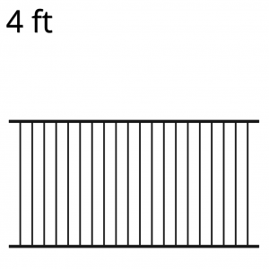 Iron Fence Panel - 48-inch x 94-inch - Ranger