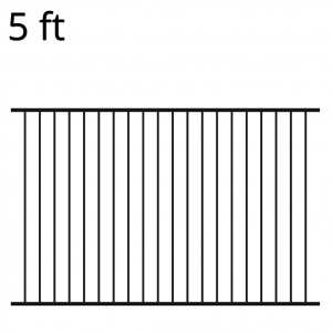 Iron Fence Panel - 60-inch x 94-inch - Ranger