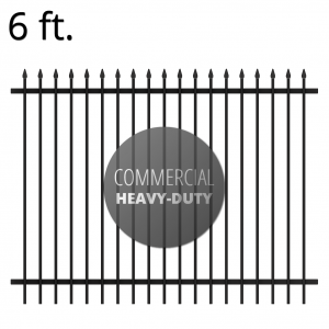 Iron Fence Panel - Commercial - 72-inch x 94-inch - Summit