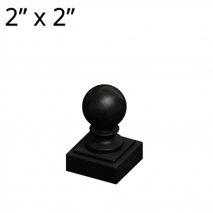 Cast-Iron Post Cap - Ball Style - 2-inch x 2-inch