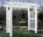 Vinyl Arbor - Jefferson - White