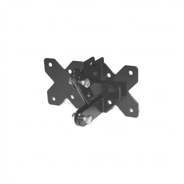 Gate Latch - Utility - 2-Way - Stainless Steel - Black