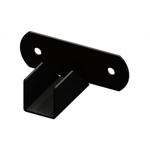 Iron Fence Panel Mounting Bracket - Rake - Horizontal - for 1-1/2-inch x 1-1/2-inch Rails
