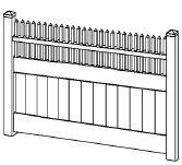 6-foot x 8-foot Vinyl Fence Panel - Privacy - Cambridge - White