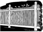 6-foot x 8-foot Vinyl Fence Panel - Stratford - Step - Wide Picket Spacing - White